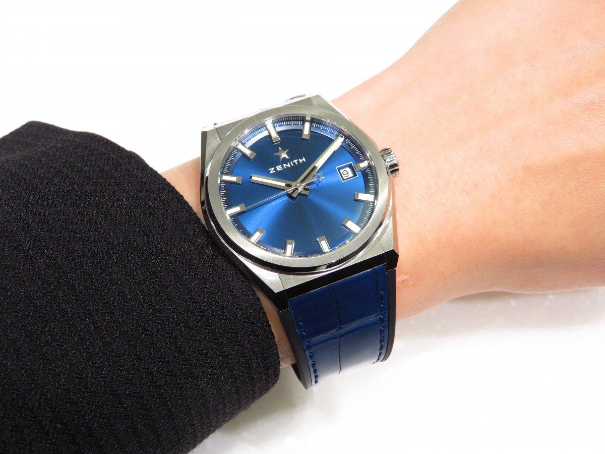 IMG_1156 ブルーが美しい「デファイ クラシック」ソリッドなクローズドダイヤル。 - DEFY