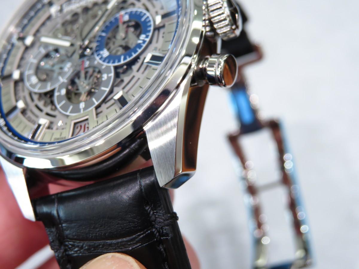 メカニカルなデザインがお好きな方におススメです!エルプリメロを体感してくださいフルオープン42 - CHRONOMASTER  IMG_1475