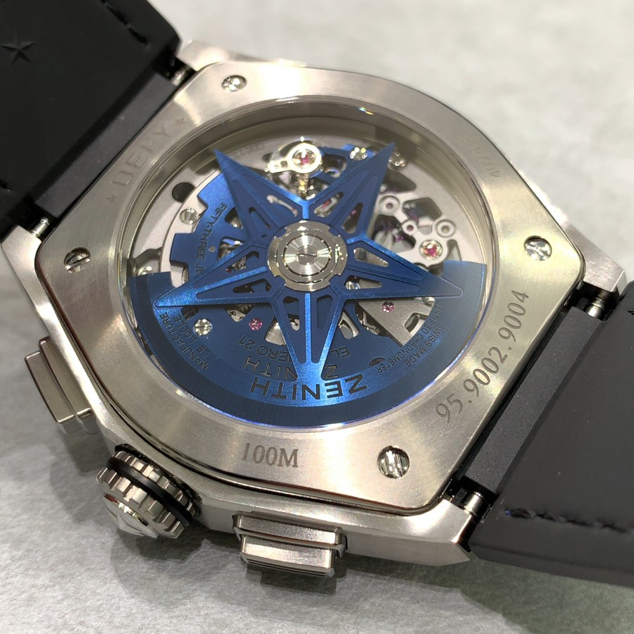 IMG_5325 スケルトンとブルーのコントラスト【デファイ エル・プリメロ21】 - DEFY