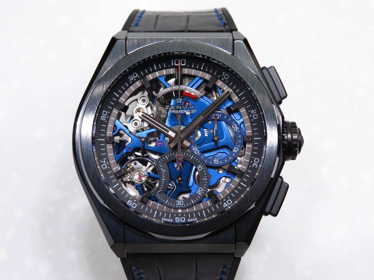IMG_1685 ブティック250本限定 ブラックとブルーのコントラストが男前な高性能モデル「デファイ エル・プリメロ21」 - DEFY