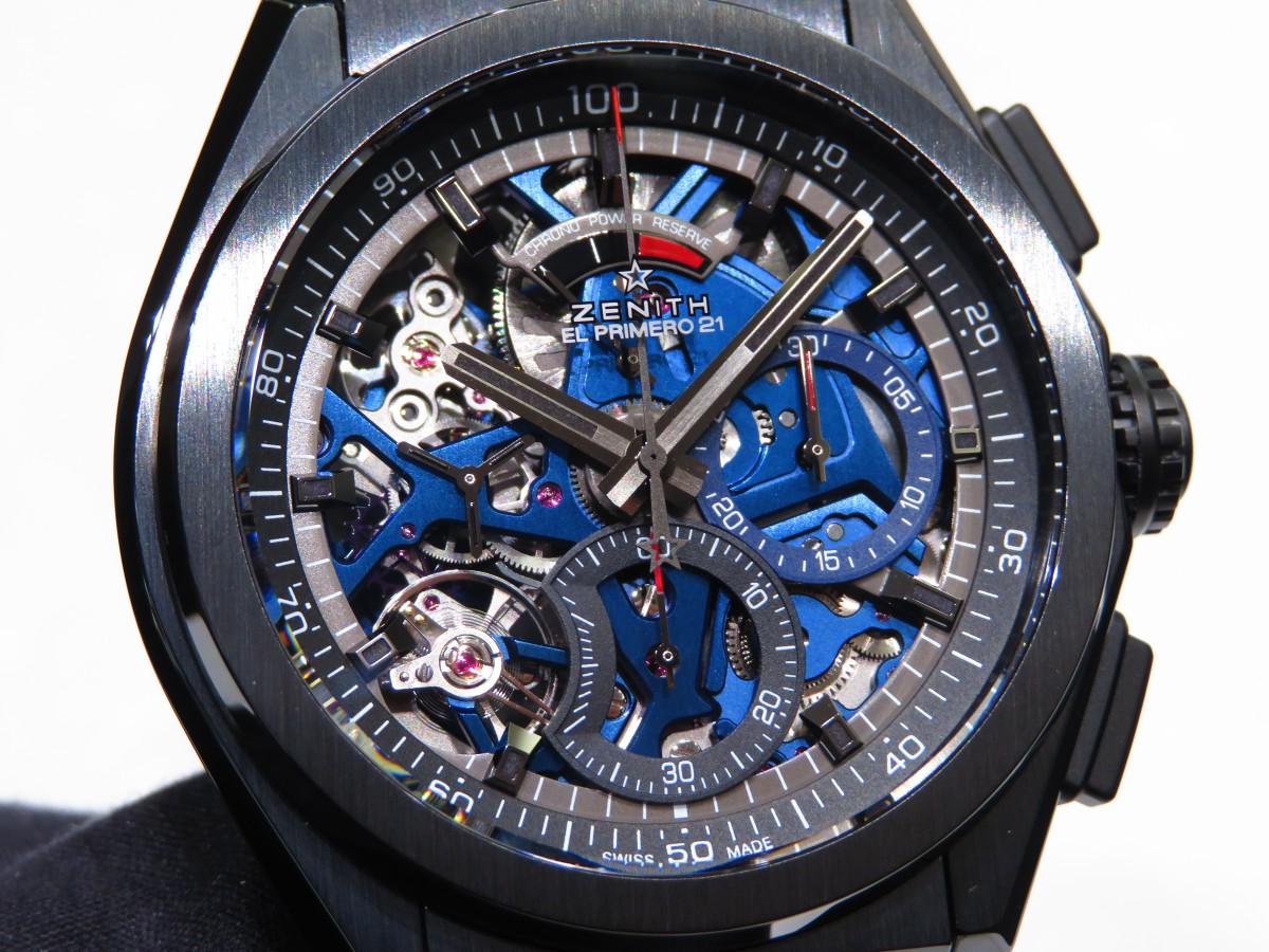 IMG_1691 ブティック250本限定 ブラックとブルーのコントラストが男前な高性能モデル「デファイ エル・プリメロ21」 - DEFY