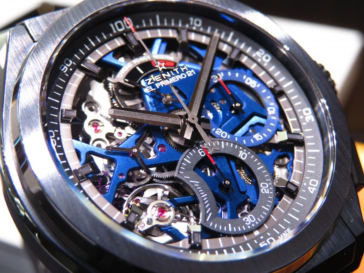 IMG_1695 ブティック250本限定 ブラックとブルーのコントラストが男前な高性能モデル「デファイ エル・プリメロ21」 - DEFY