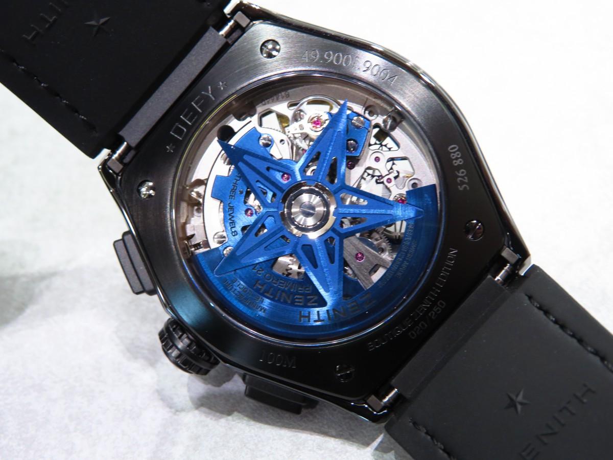 IMG_1701 ブティック250本限定 ブラックとブルーのコントラストが男前な高性能モデル「デファイ エル・プリメロ21」 - DEFY