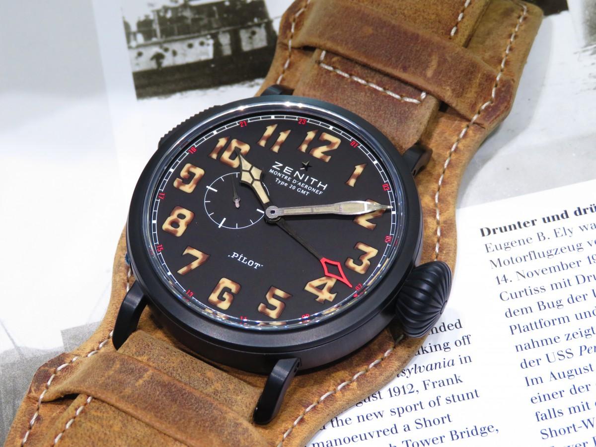 IMG_1818 パイロットウォッチの名に相応しい高い視認性を備えた1903本限定の「パイロット タイプ20 GMT 1903」 - PILOT