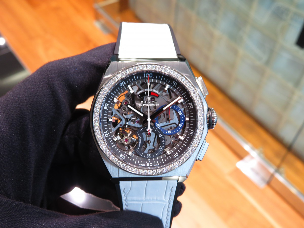 IMG_2358 ベゼルにダイヤを贅沢に使用したブティックだけの特別限定モデル!「デファイ エル・プリメロ21」 - DEFY