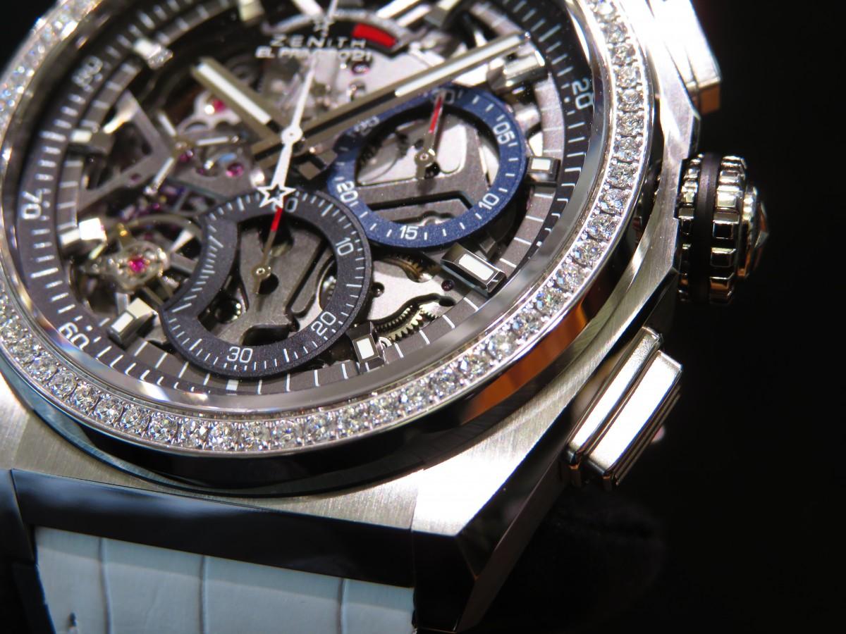 IMG_2360 ベゼルにダイヤを贅沢に使用したブティックだけの特別限定モデル!「デファイ エル・プリメロ21」 - DEFY