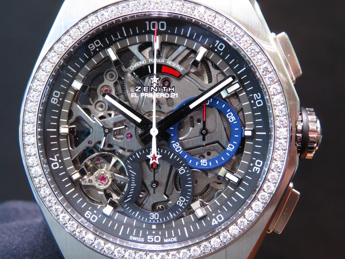 IMG_2361 ベゼルにダイヤを贅沢に使用したブティックだけの特別限定モデル!「デファイ エル・プリメロ21」 - DEFY