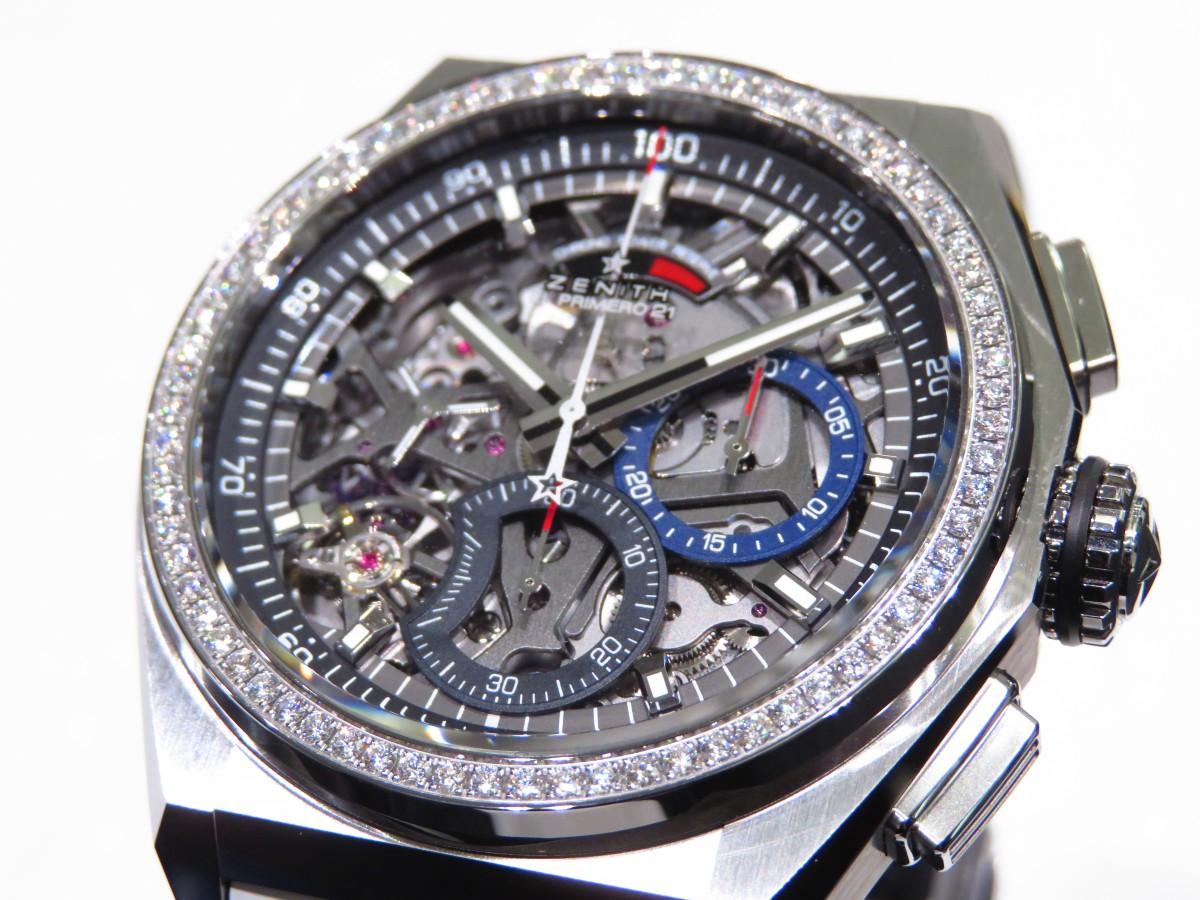 IMG_2364 ベゼルにダイヤを贅沢に使用したブティックだけの特別限定モデル!「デファイ エル・プリメロ21」 - DEFY