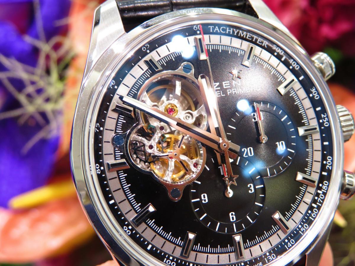 永遠の定番カラーのブラックダイヤルでシックな雰囲気が魅力 「クロノマスター エル・プリメロオープン」 - CHRONOMASTER |IMG_3237