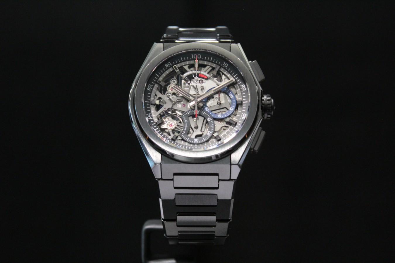 IMG_4168 高級感と使い易さを備えたオールブラックモデル【デファイ エル・プリメロ21】 - DEFY