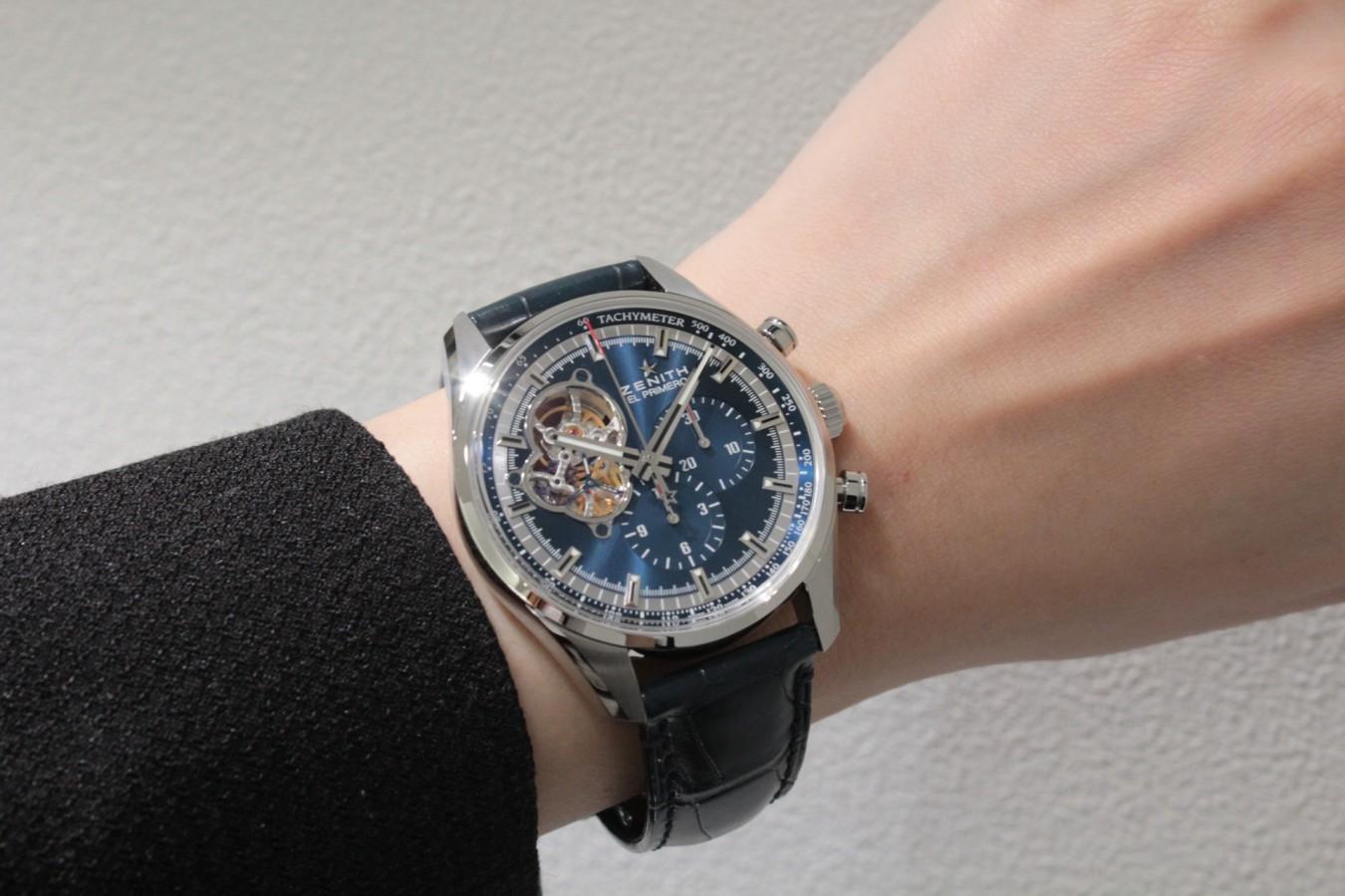 IMG_4274 高級感の漂うブルー文字盤が綺麗な「エル・プリメロ オープン」 - CHRONOMASTER