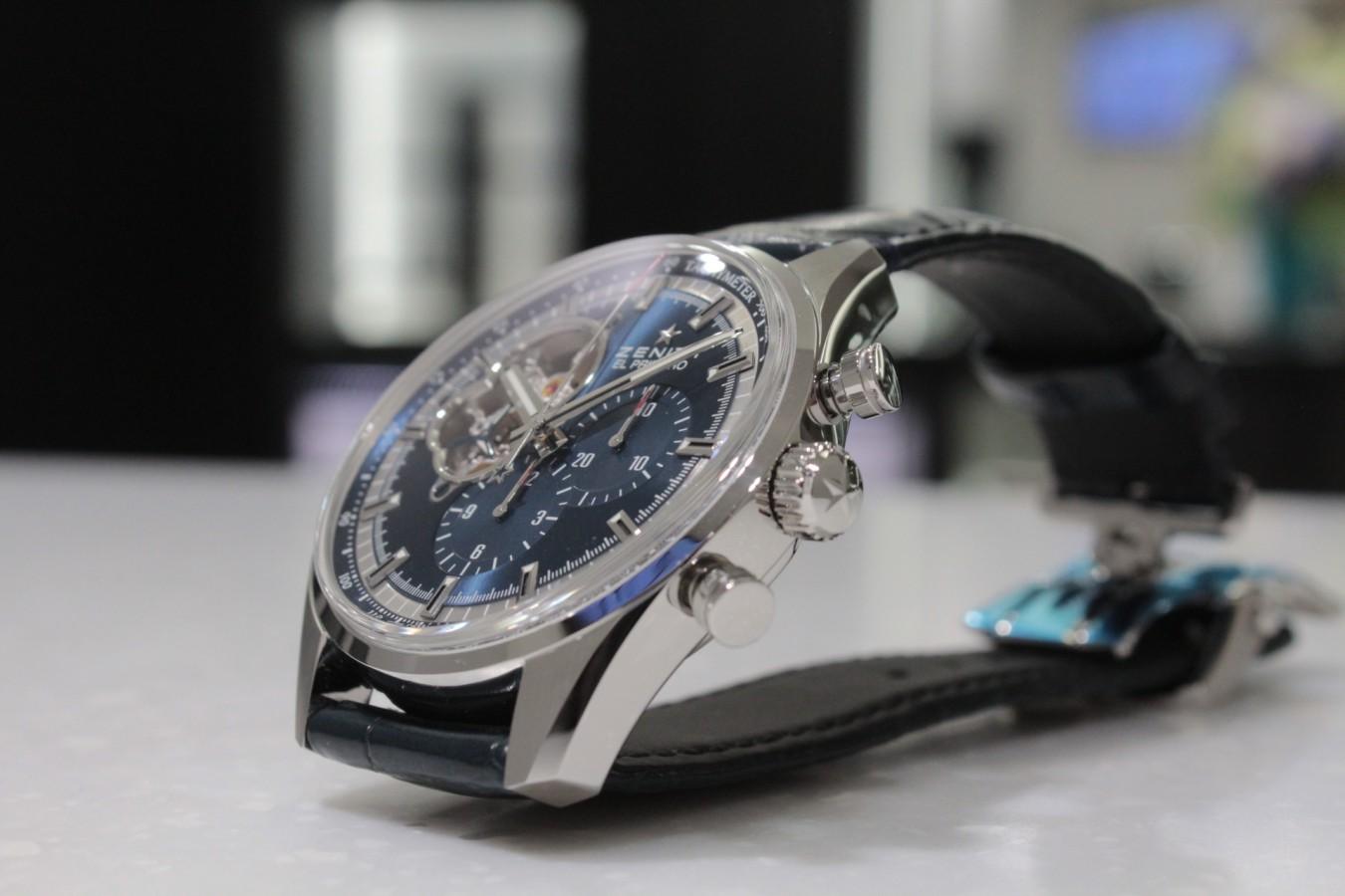 IMG_4276 高級感の漂うブルー文字盤が綺麗な「エル・プリメロ オープン」 - CHRONOMASTER