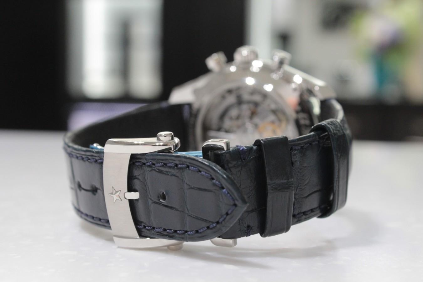 IMG_4277 高級感の漂うブルー文字盤が綺麗な「エル・プリメロ オープン」 - CHRONOMASTER
