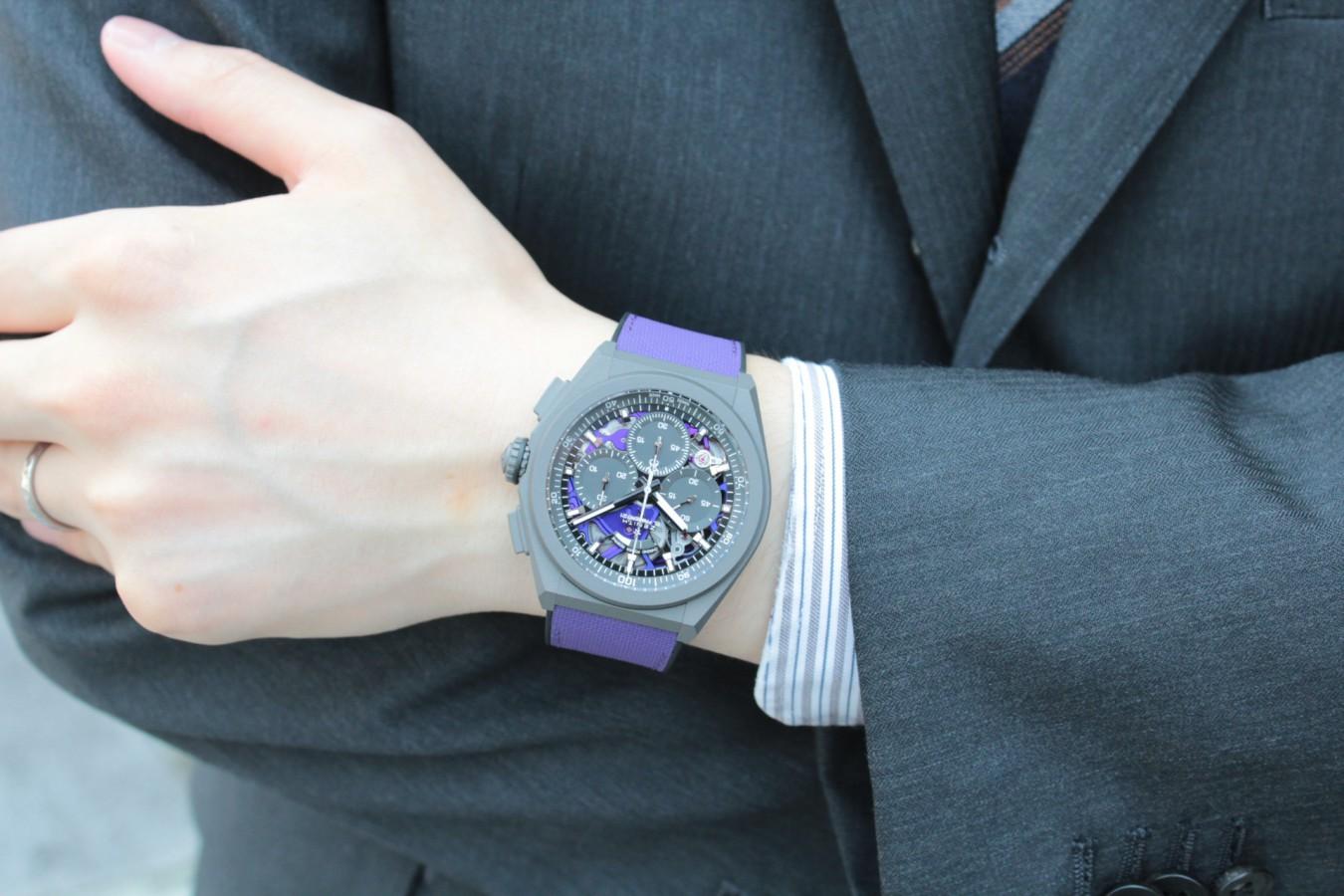 IMG_4789 紫色が美しい!2020年新作「デファイ エル・プリメロ21 ULTRA VIOLET」入荷しました!! - DEFY