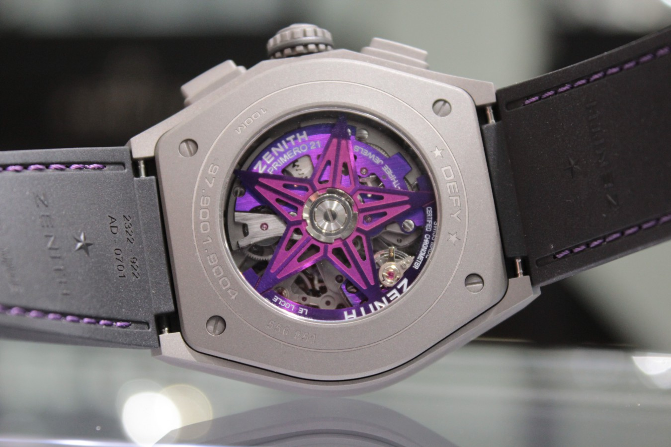 IMG_4809 紫色が美しい!2020年新作「デファイ エル・プリメロ21 ULTRA VIOLET」入荷しました!! - DEFY