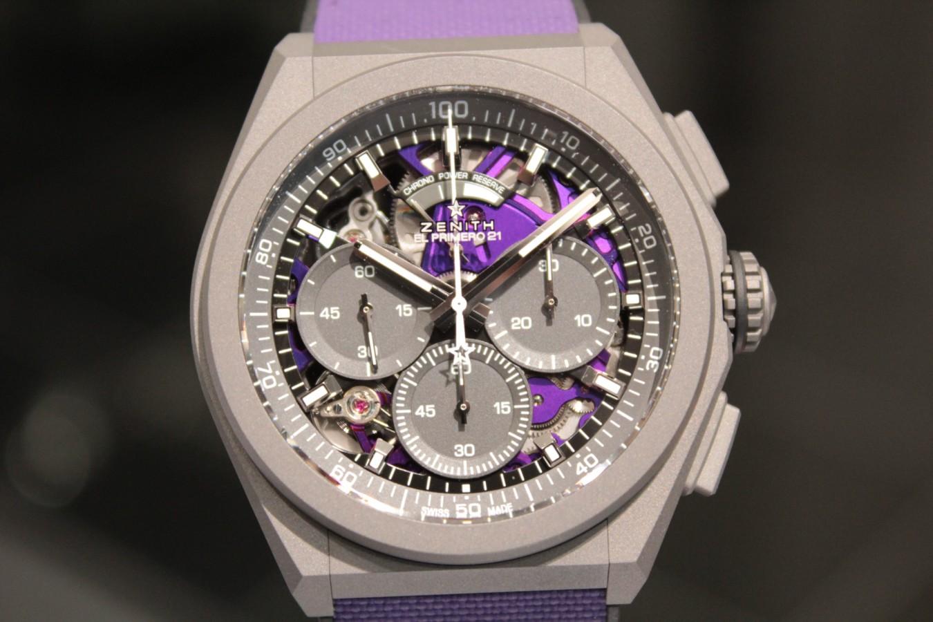 IMG_4813 紫色が美しい!2020年新作「デファイ エル・プリメロ21 ULTRA VIOLET」入荷しました!! - DEFY