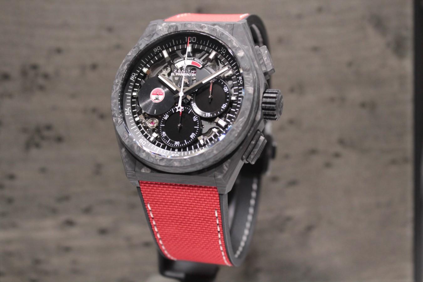 IMG_5884 赤と黒のコントラストがカッコ良い!?世界200本限定のスペシャルモデル「デファイ エル・プリメロ21 カール・コックス エディション」 - DEFY