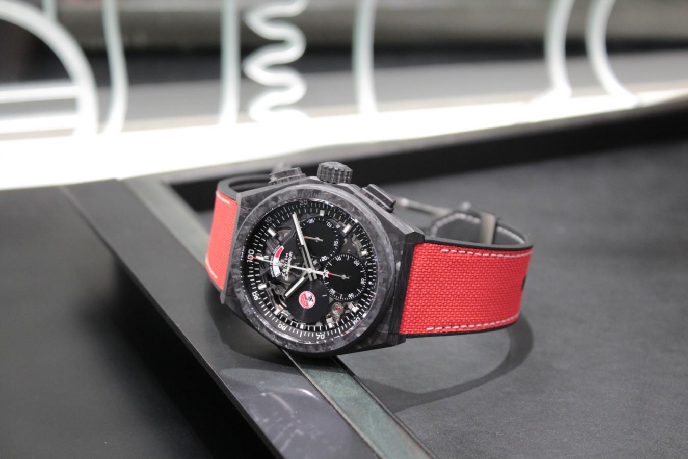 IMG_5906 赤と黒のコントラストがカッコ良い!?世界200本限定のスペシャルモデル「デファイ エル・プリメロ21 カール・コックス エディション」 - DEFY