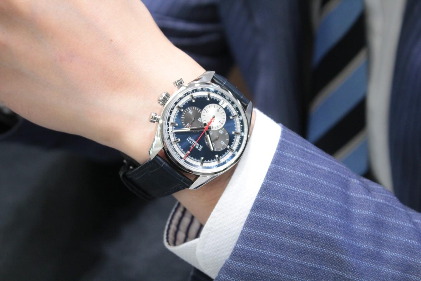 IMG_6279 ブルーダイヤルとマルチカラーが織りなす美しいコントラスト【エル・プリメロ 42mm】 - CHRONOMASTER