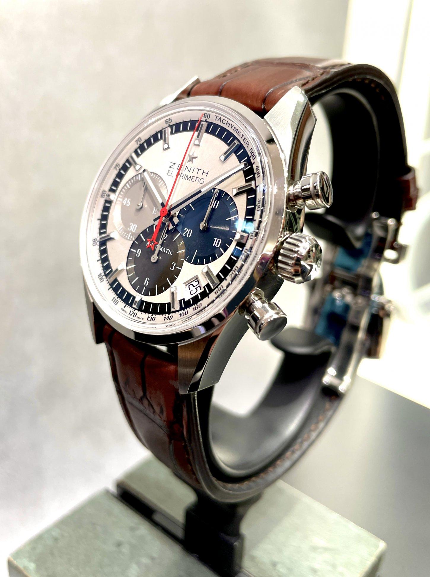 どこか懐かしさも感じる?ヴィンテージモデルのような雰囲気が印象的な『クロノマスター エル・プリメロ 38mm』 - CHRONOMASTER |IMG_5353
