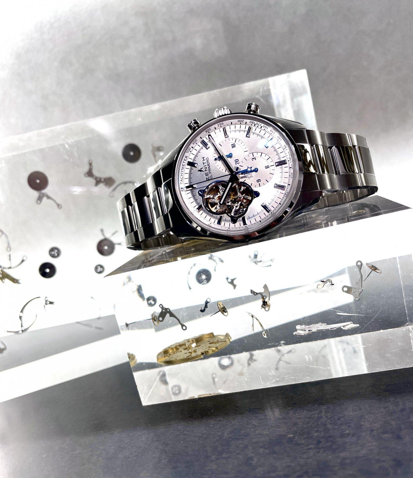 IMG_5455 美しいシルバーダイヤルが洗練された印象に!『クロノマスター エル・プリメロ オープン』 - CHRONOMASTER