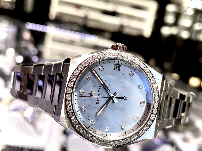 ホワイトダイヤモンドの透明感ある輝きが上品でリッチな印象に!『デファイ ミッドナイト』 - DEFY  IMG_5753