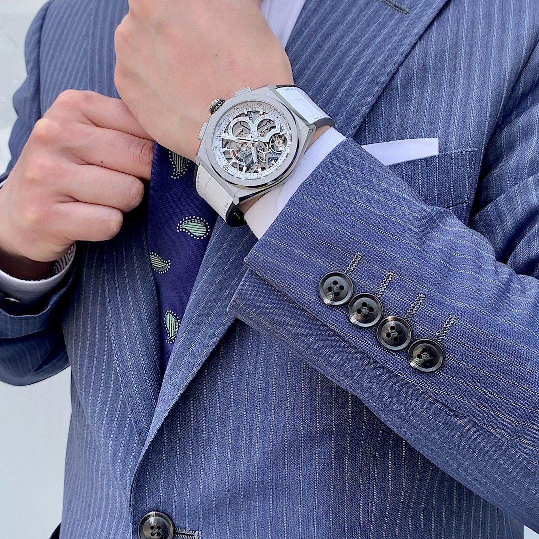 腕元を明るく、気分も明るくしてくれる特別なモデル『デファイ エル・プリメロ21 日本限定』 - DEFY  IMG_0639