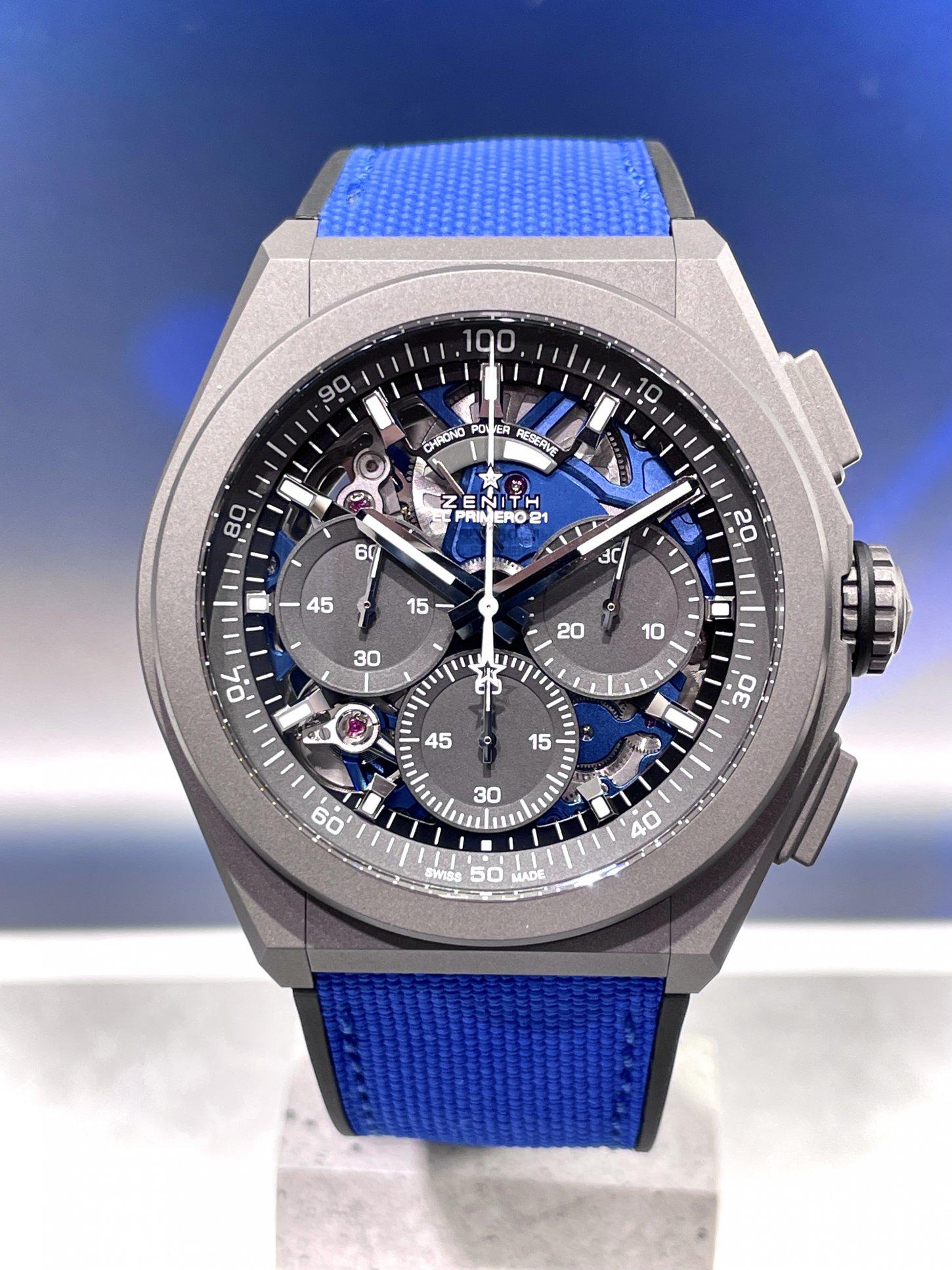 インパクトのあるブルーで腕元にアクセントを!『デファイ エル・プリメロ21 ウルトラブルー』 - DEFY |8C6D6EA0-DECC-475D-8C28-3A01935ADE9B-002
